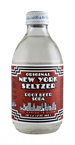 ORIGINAL NEW YORK SELTZER, SODA, ROOTBEER, Pack of 6, Size 4/10 FZ - No Artificial Ingredients Dairy Free Gluten Free