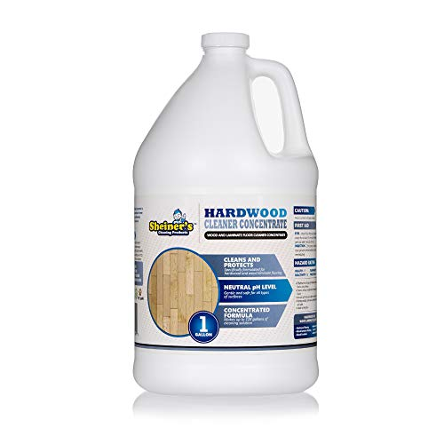 Sheiner's Hardwood Floor Cleaner Concentrate for Deep Cleaning of Wood, Laminate, Natural and Engineered Flooring, pH Neutral, Safe for All Surfaces, 128 Ounce (Makes up to 128 Gallons) ()