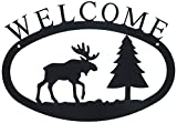 11 Inch Moose and Pine Welcome Sign Small