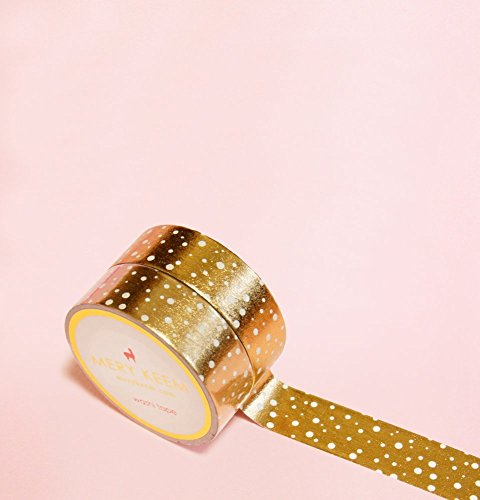 Gold Foil Washi Tape for Planning • Scrapbooking • Arts Crafts • Office • Party Supplies • Gift Wrapping • Colorful Decorative • Masking Tapes • DIY from MERYKEEM