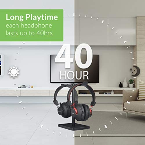 [New] Avantree HT41899 Dual Bluetooth 5.0 Wireless Headphones for TV Watching with Transmitter (Digital Optical AUX RCA PC USB), 40 Hrs Playtime Wireless Hearing Headset, Plug n Play, No Audio Delay 41WSE6v0zJL