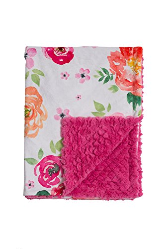 (Baby Laundry Pink Primrose Garden Minky Baby Blanket (27