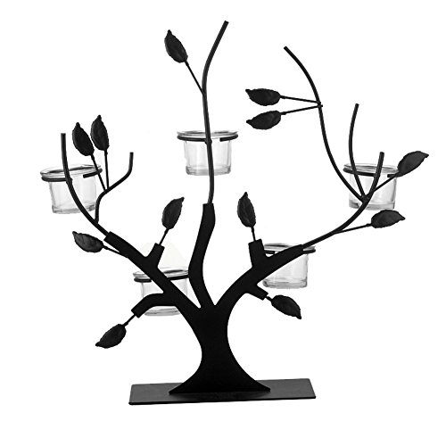Iron Wrought Branch (MedvLisd Wrought Iron Candle Holder,Tree Shape Candlestick,Festival Gift & Desktop Wedding Party Decoration - for All Rooms-a 38x39cm(14.9x15.3in))