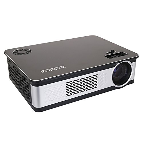 LED Portable Projector, ismtstore Energy Saving HD Video projector, Multimedia Home Theater Video Projector Supporting 1080P HDMI USB VGA AV for Home by ismtstore