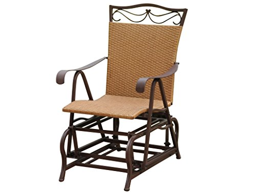 VALENCIA RESIN WICKER and STEEL PATIO/PORCH GLIDER - PATIO FURNITURE