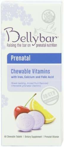 Bellybar Chewable Prenatal Vitamins, Mixed Fruit Flavor, 60-Count