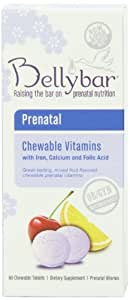 Bellybar Chewable Prenatal Vitamins, Mixed Fruit Flavor, 60-Count