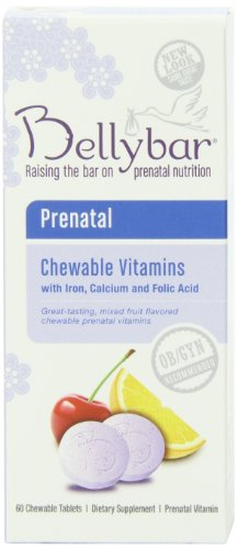 - Bellybar Chewable Prenatal Vitamins, Mixed Fruit Flavor, 60-Count