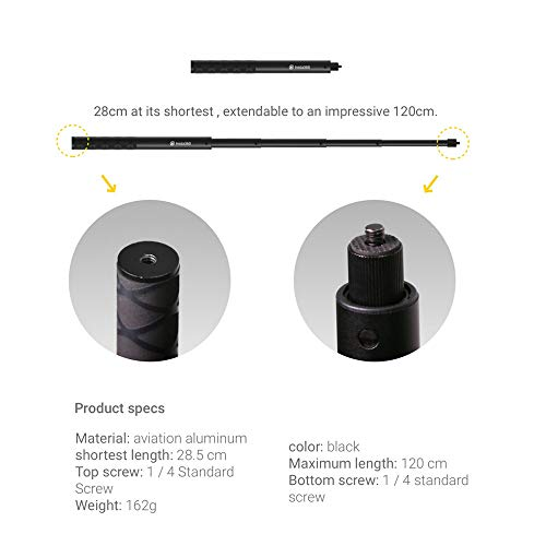 ONE X2 Panoramic Action Camera 5.7K 30fps LCD Touch Screen 10m Body Waterproof HDR APP Editing 360° Live Streaming TimeShift Support Bullet Time with 1630mAh Battery with Selfie Stick