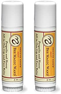 Medicine Mama's Sweet Bee Magic Organic Lip Balm, Chapstick, Face Balm, 2Count/1 oz Total