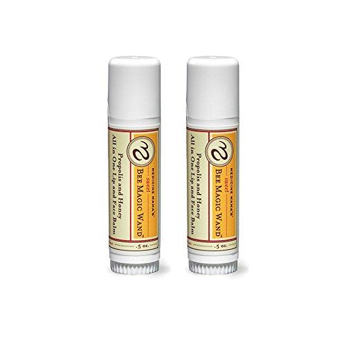 Medicine Mamas Sweet Bee Magic Organic Lip Balm, Chapstick, Face Balm, 2Count/1 oz Total