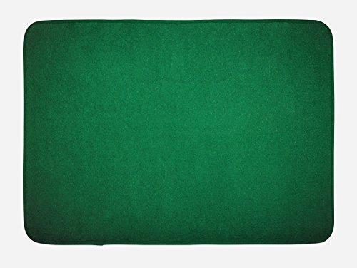 Hunter Green Mat - Lunarable Hunter Green Bath Mat by, Digitally Created Plain Surface Vegas Color Holdem Artful Picture Print, Plush Bathroom Decor Mat with Non Slip Backing, 29.5 W X 17.5 W Inches, Hunter Green