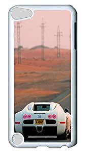 iPod 5 cases, iPod Touch 5 cases, Fashion Bugatti 3 Cute Pattern Bumper Protection [Heavy Drop Protection] Ultra Slim Hard White PC Snap-on Back Shell Protective Skin Case Cover For IPod Touch5 5th