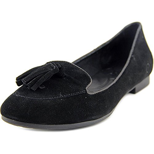 Born Kary Women's Tassel Flat,Black,8 M US
