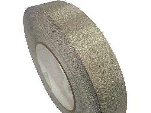 JWtextec Conductive Tape EMI Shielding Plain Style Copper/Nickel Coating Fabric 30mm X 50M (1.182Inch X 1968.5Inch) - Chenille Glue Top