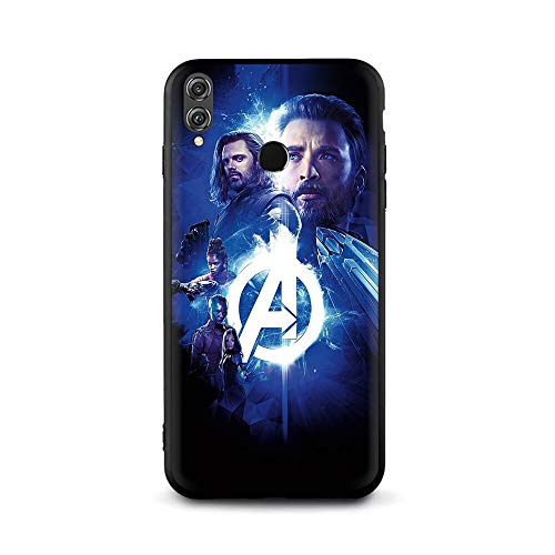 Half-Wrapped Case - Marvel Superheroes The Avengers Soft TPU Case for Huawei Honor 10 8 9 Lite 6A 7A Pro 7c 7X 8c 8X Nova 3 3i Y5 Y9 Y6 Y7 Prime - by Aquaman Store - 1 PCs -