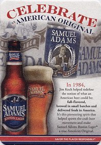 The Boston Beer Company - Samuel Adams Boston Lager - Celebrate An American Original- Paperboard Coasters - Sleeve of 70 (Sam Boston Adams Ale)