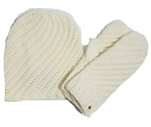 Kate Spade Beanie and Mittens Box Set,Cream