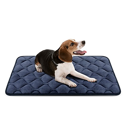 Dog Bed Mats Durable Dark Grey Soft Cat Mat for Pet Crate Anti-Slip Nap Pad Small Medium Large Dogs Pads by Ubabe (XS)