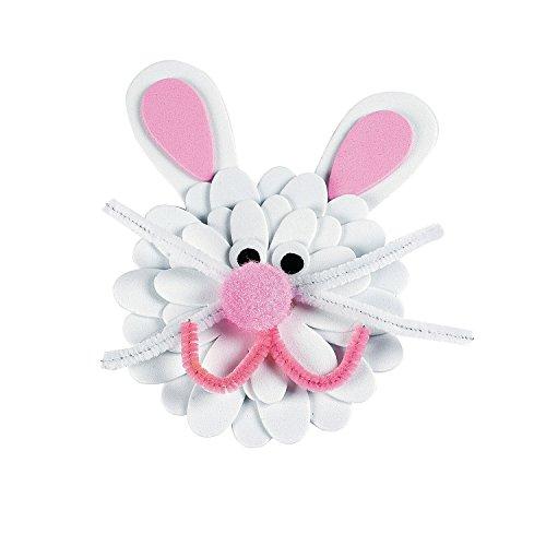 Fun Express - Foam Flower Bunny Magnet Craft