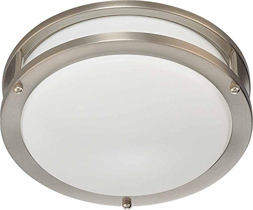 Volume Lighting V6841-33 1-Light Flush Mount Ceiling Fixture, Brushed Nickel (Wall Ada Light Three Mount)