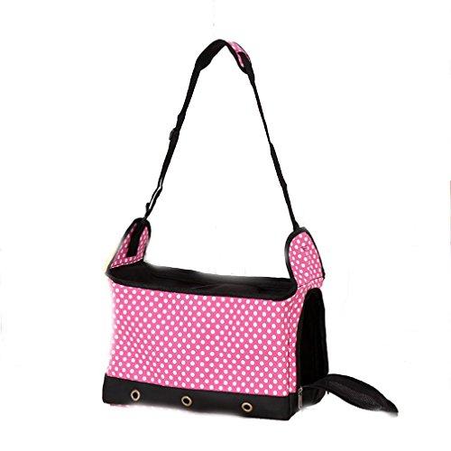 Portable il rosa Borsa viaggio Puppies Pet Fashion Leisure Cat da Dog Asentechuk® Trasporta Traspirante Mesh Bag ATE6H