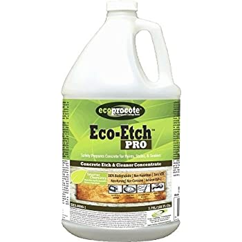 Eco etch pro concrete etcher cleaner 1 gal for Environmentally friendly concrete cleaner