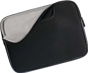 4-Ok KLTSNG - Funda para portátil, 11 pulgadas, con asas, color negro y interior gris + ratón
