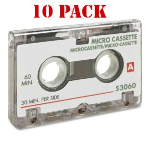 Sparco 60 Minutes Dictating Microcassette - 10 pack by Sparco