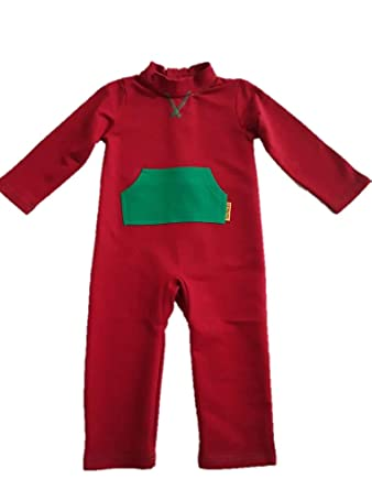 cbdb53eda033 Amazon.com  Strip-Proof Toddler Romper with a Back Zipper in Red ...