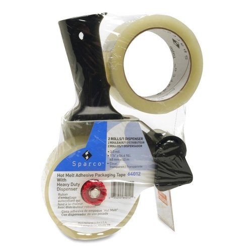 SPR64012 - Sparco Two-Roll Pkg Tape w/Pistol-Grip Dispenser