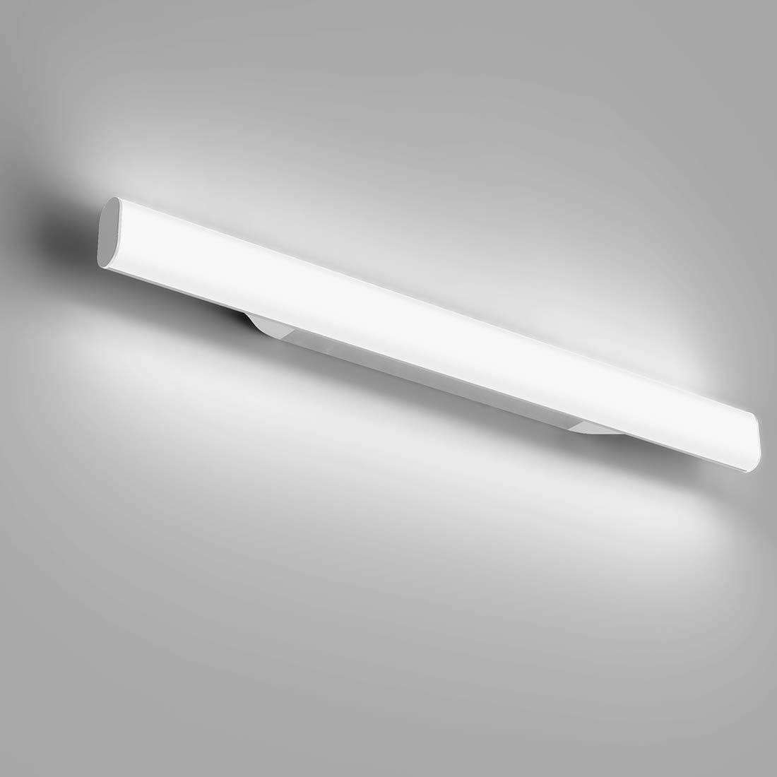 12W 1200LM Lámpara LED de Pared, Lámpara de espejo Aplique de Baño LED 440mm 6000K Luz natural para Espejo Muebles de Maquillaje Aparato Montado en la Pared