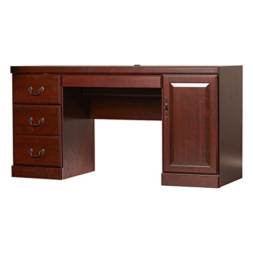 Sauder Heritage Hill Computer Credenza Classic Cherry
