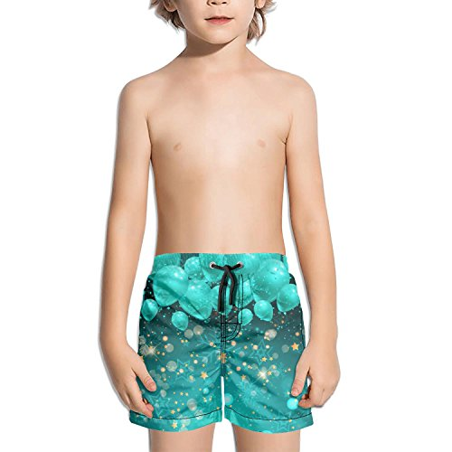 Juliuse Marthar Camo Wedding Balloons Swim Trunks Quick Dry Beach Board Shorts for Boys by Juliuse Marthar