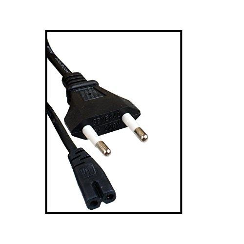 Netzkabel - Stromkabel 1,5 m - Kabel für Samsung Toshiba LG Sharp Sony TV   2 Pin - Wand -Schnur auf 8 C7   1,5 m