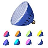 LAMPAOUS LED Pool Lights Bulb, RGB Muliti Color LED Pool Lights, E26 Base Par 56 Replacement Bulb 120VAC 35 Watt