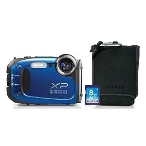 Fuji XP60 Camera Bundle with SD Card and Camera Case - Blue