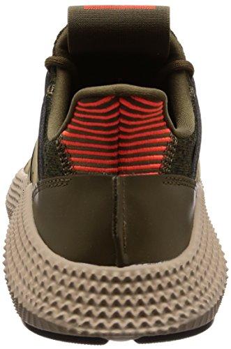 adidas Prophere, Scarpe da Ginnastica Basse Uomo Verde (Trace Olive/Solar Red 0)