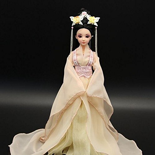 [Osye PVC Barbie Doll in Chinese Ancient Handmade Costume Dress: Height 30cm] (Barbie Costume Makeup)