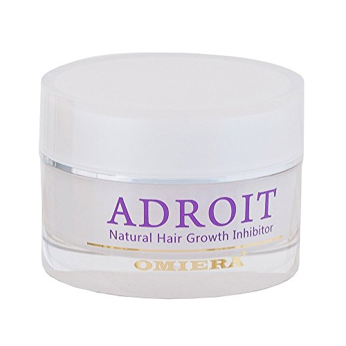 Omiera Adroit Facial Hair Inhibitor Cream. Prevents Ingrown Hair and Slows Hair Growth After Shaving, Waxing, And Hair Removal, 30 grams