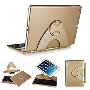 HP Detachable 360 Degree Rotating Wireless Keyboard Case for iPad Air/ iPad 5(Delivery color)¡ú(Golden)