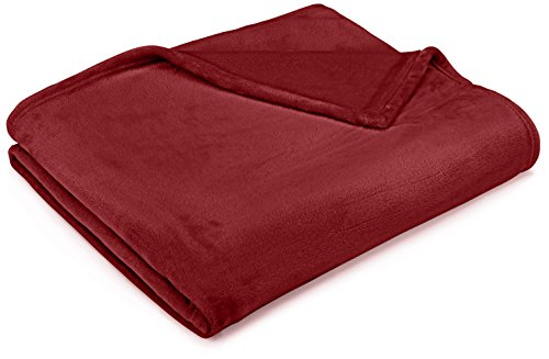 Burgundy Throw (Pinzon Velvet Plush Throw Blanket, 50