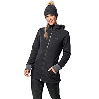 Jack Wolfskin Damen PATAN Long Jacket W Fleecejacke, Phantom, L 8