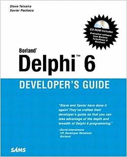 9780672321153: delphi 6 developer's guide (sams developer's guides.