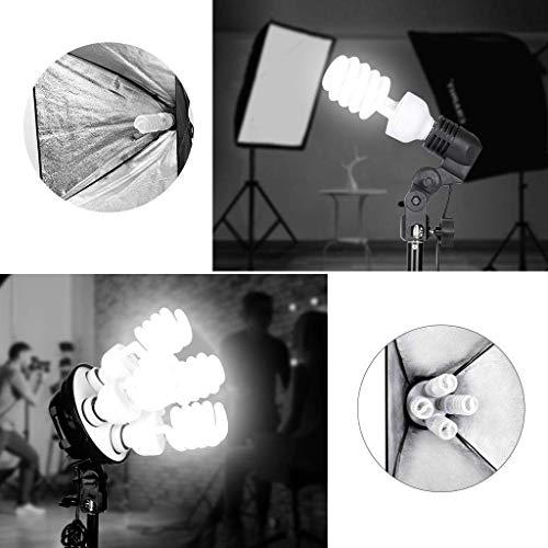 MOUNTDOG 2400W Softbox Photography Lighting Kit 20'x 28' Softbox3 4 Socket Professional Continuous Light Set 12X45W E27 5500K Bulbs for Portrait Photo Video Shooting by MOUNTDOG (Image #7)