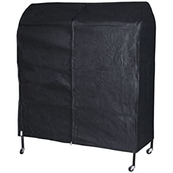 Hangerworld Breathable 4ft Garment Rack Cover, Black