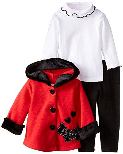 Good Lad Infant Girl - Good Lad Baby Girls' Scottie Dog Jacket Legging Set, Red, 18 Months