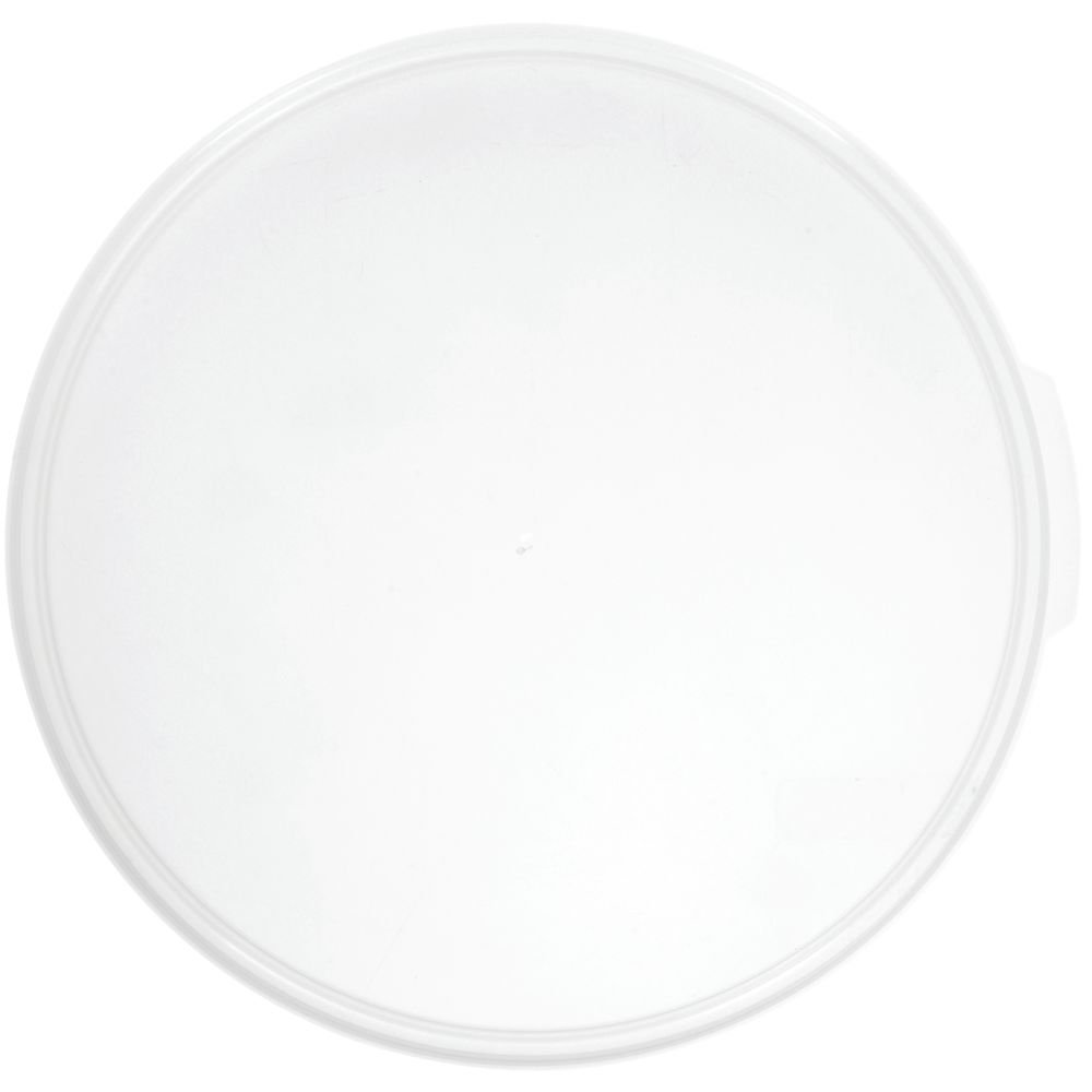 Cambro Camwear 12, 18 and 22 qt Translucent Plastic Round Lid - 13
