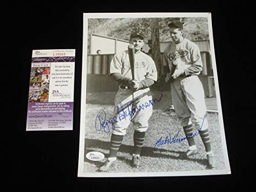 Herman Photo Signed - Riggs Stephenson & Babe Herman Chicago CUBS Signed 8x10 B&W Photo JSA - Autographed MLB Photos