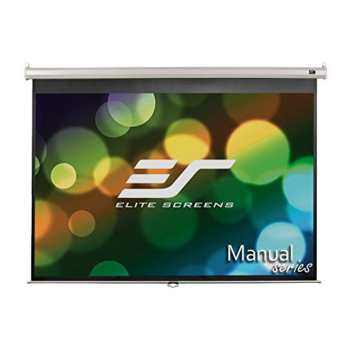 Elite Screens Manual, 100-inch 4:3, Pull Down Projection Manual Projector Screen with Auto Lock, M100NWV1